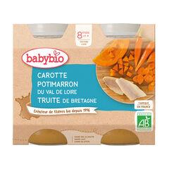 Petit pot légumes et truite de Bretagne - 2x200g , Babybio