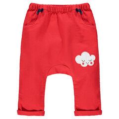 Pantalon en coton fantaisie avec noeuds en satin