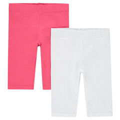 Lot de 2 leggings courts unis
