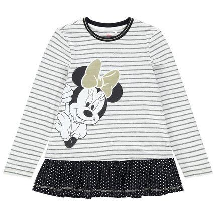 Tunique manches longues à rayures print Minnie Disney