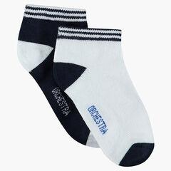 Lot de 2 paires de chaussettes unies