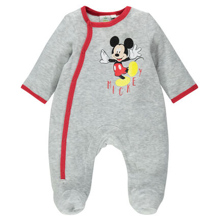 Dors-bien en velours Disney print Mickey ouverture adaptée à l'âge