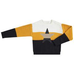 Pull en tricot avec étoile