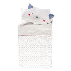 Housse de couette et taie d'oreiller imprimés oursons