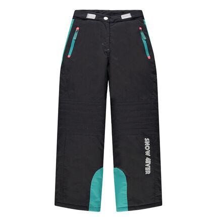 Junior - Pantalon de ski à poches zippées avec empiècements turquoise