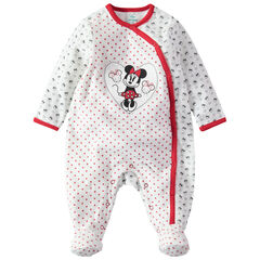 Dors-bien en velours imprimé all-over avec patch Minnie