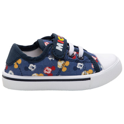 Baskets basses en toile imprimées Mickey Disney all-over du 20 au 23