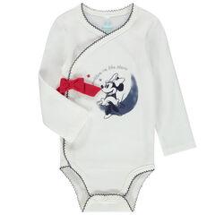Body manches longues en coton print Minnie avec noeud