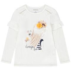 T-shirt manches longues en jersey avec princesse printée