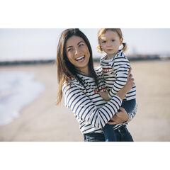 """Marinière bébé en coton à inscription """"famille"""" printée"""