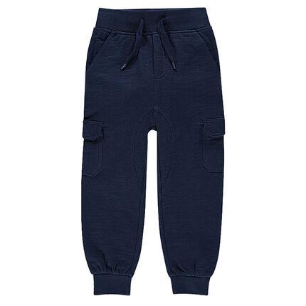 Pantalon en molleton slub à poches