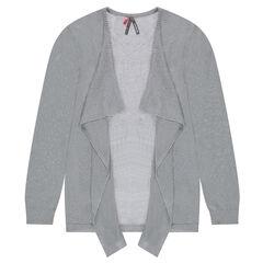 Junior - Gilet en tricot mélangé de fil brillant