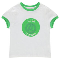 Tee-shirt manches courtes en jersey avec motif en sequins magiques Hulk Avengers ©Marvel