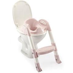 Réducteur de toilettes Kiddyloo - Rose poudré/Blanc