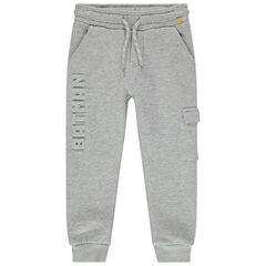 Pantalon de jogging en molleton à poche et inscription Batman