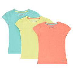 Junior - Lot de 3 tee-shirts manches courtes en jersey unis