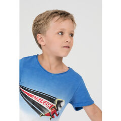Tee-shirt manches courtes effet tie and dye avec print super-héros ©Disney