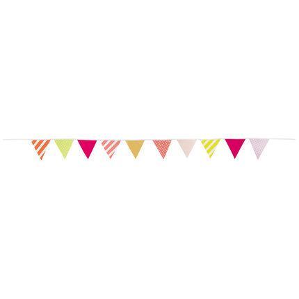 Guirlande d'anniversaire fantaisie à triangles multicolores
