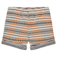 Junior - Short en jacquard imprimé ethnique