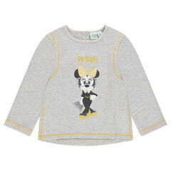 Sweat en molleton chiné avec print Disney Minnie