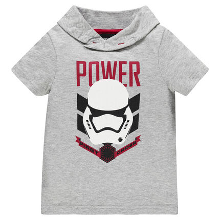Tee-shirt manches courtes à capuche print personnage Star Wars™