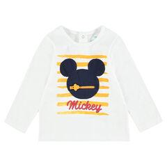 Tee-shirt manches longues en jersey avec patch Mickey ©Disney appliqué