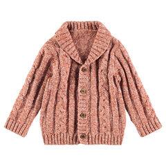 Gilet en tricot épais avec jeu de mailles