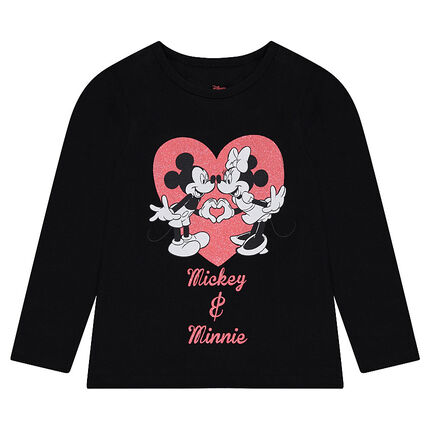 Tee-shirt manches longues en jersey Disney print Mickey et Minnie