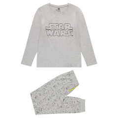 Pyjama en jersey avec print Star Wars fluorescent