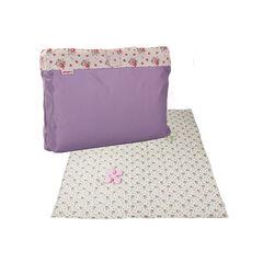 Couverture de jeu/pique-nique - Fleurs/Violet