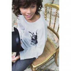 Junior - Tee-shirt manches longues avec prints thème musique