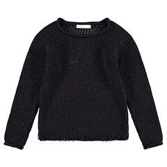 Junior - Pull en tricot mélangé de fil brillant avec franges