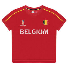 Tee-shirt manches courtes COUPE DU MONDE DE FOOTBALL 2018 - BELGIQUE
