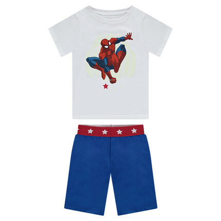 Pyjama court en jersey print ©Marvel Spiderman phosphorescent