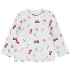 T-shirt manches longues à pompiers printés all-over