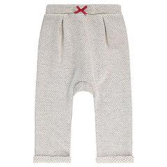 Pantalon de jogging en molleton avec noeud contrasté