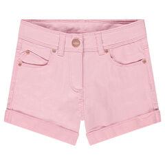 Short en coton fantaisie avec détails rose gold