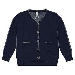 Gilet en tricot uni avec fil pailleté