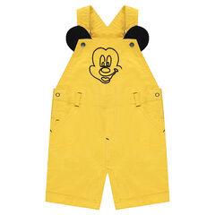 Salopette courte en coton ©Disney avec broderies Mickey