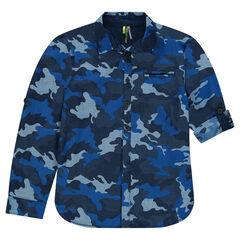 Junior - Chemise manches longues à motif army