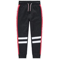 Junior - Pantalon de jogging en molleton à bandes contrastées