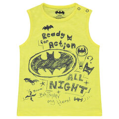 Débardeur en jersey slub avec prints ©Warner Batman