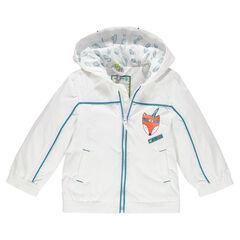 75f941e6e83a3 Coupe-vent à capuche doublé jersey print renard