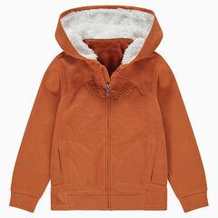 Junior - Gilet en molleton avec capuche doublée sherpa