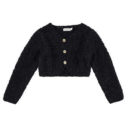 Gilet en tricot avec fil brillant mélangé