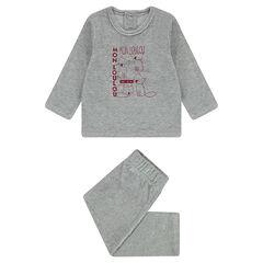 Pyjama en velours avec renards printés