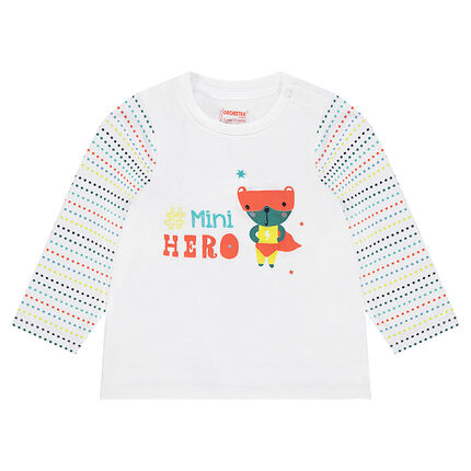 Tee-shirt manches longues avec animal printé