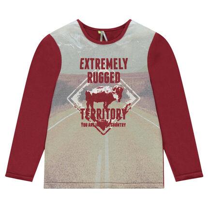 Junior - Tee-shirt manches longues avec print paysage