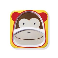 Assiette à compartiments Zoo singe