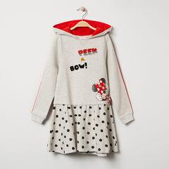 Robe manches longues à capuche en molleton print Minnie Disney